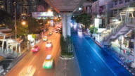 Timelapse of light trails of City video