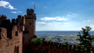 Timelapse of little castle and beautiful view over Palatinate video