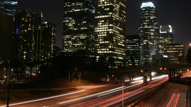 timelapse of Los Angeles freeway video