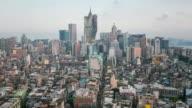 Time-lapse of Macau Skyline aerial view Macao China video