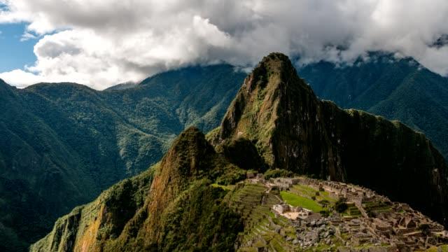 Timelapse Of Machu Picchu In Peru video