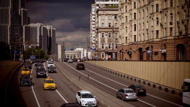 timelapse of many cars cars, city traffic, traffic jams, a stream of cars video