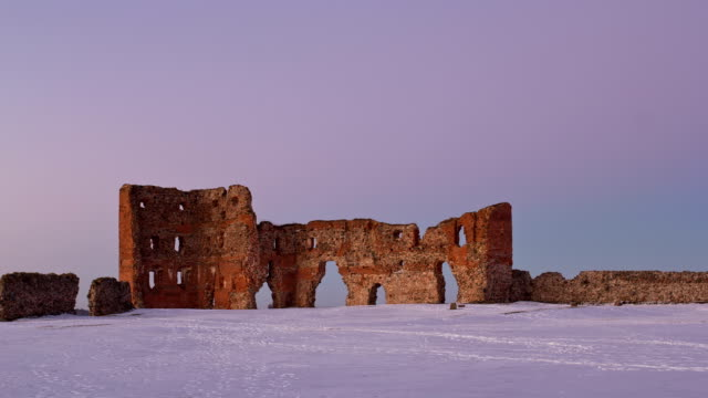 timelapse of medieval castle ruins video