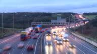 Timelapse of motorway at dusk video