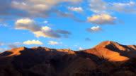 Timelapse of mountain at sunset, Leh, Ladakh, Jammu and Kashmir, India video
