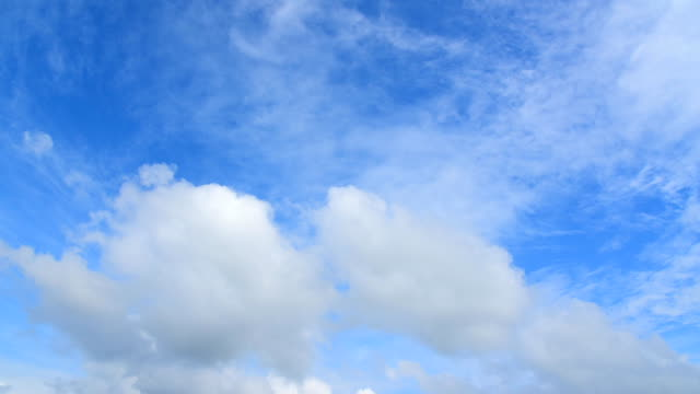 Timelapse of moving clouds and blue sky video