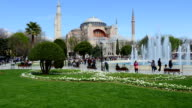 Timelapse of moving people at Sultanahmet Mosque video