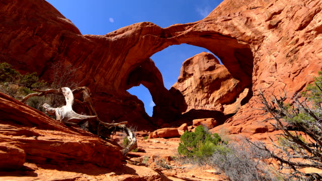 A Time-Lapse Of Natural Stone Arches In Canyonlands Park. video