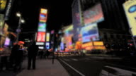 Time-Lapse of Night in Times Square video