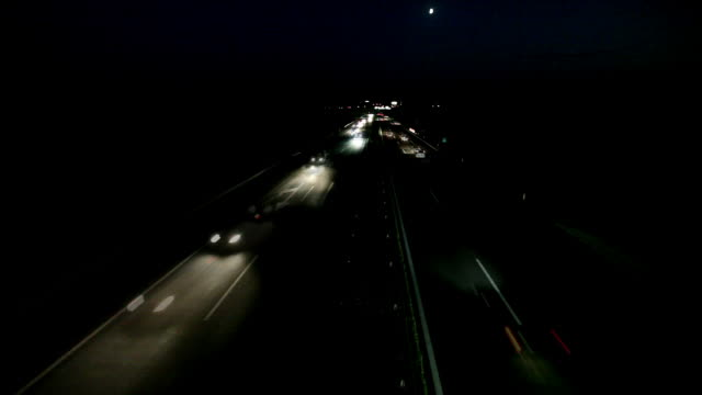 HD: Timelapse of night traffic video