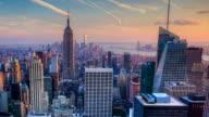 Timelapse of nightfall in the heart of Manhattan video