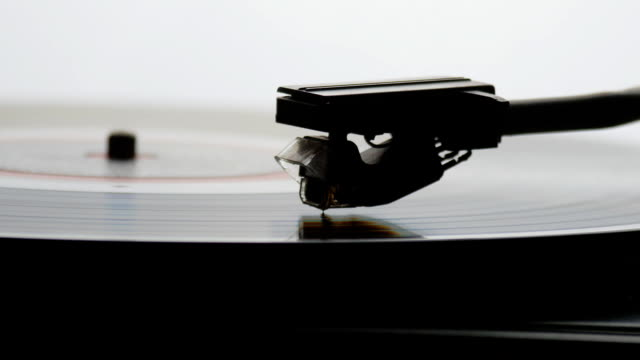 Time-lapse of Old vintage gramophone playing lp vinyl record video