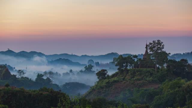 4K Timelapse of Pagoda in Mrauk-U video