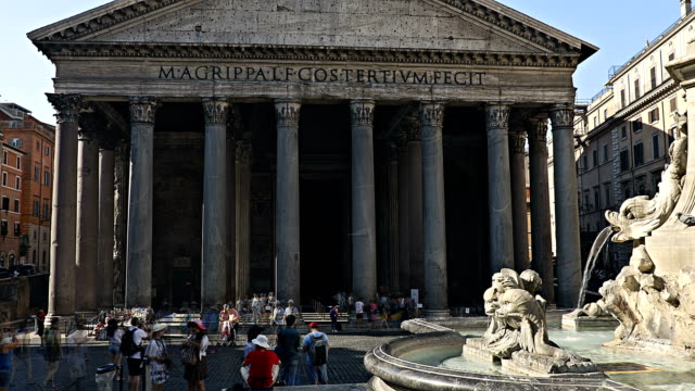 Timelapse of Pantheon in Rome video