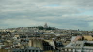 Timelapse of Paris panorama on cloudy day video