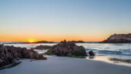 Time-lapse of Pebble Beach 17 mile drive at sunset video