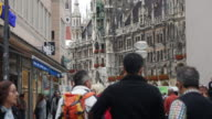 Time-lapse of Pedestrian crowded at Marienplatz video