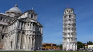 Timelapse of people around Cathedral in Pisa,leaning tower video