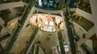Timelapse of People on an escalator in a mall video