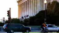Timelapse of people visiting the Lincoln Memorial in Washington DC video