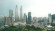 Timelapse of Petronas Twin Towers video