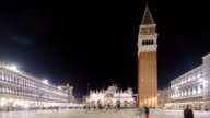 Time-lapse of Piazza San Marco, Venice, Italy video