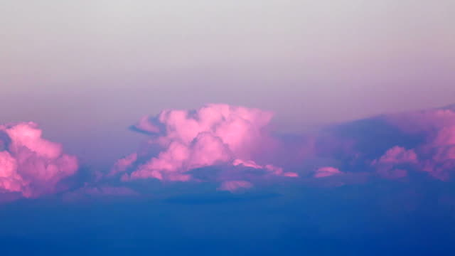 Timelapse of Pink Clouds at Sunset video