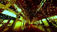 Timelapse of raindrops and bronze illumination. video