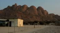 Timelapse of rising sun on Namibian mountain video