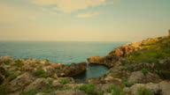 HD : timelapse of rocky coast in Puglia - italy video