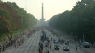 Timelapse of running people at Berlin Marathon video