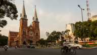 Timelapse of Saigon Notre-Dame Basilica - Cathedral video