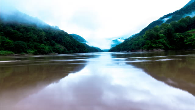 Timelapse of Salween river border of Thailand and Myanmar video