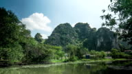 Timelapse of scenic view of river in Vietnam video