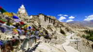 Timelapse of Shey Palace, Leh Ladakh, Jammu and Kashmir, India video
