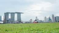 Timelapse of Singapore Skyline From Marina Barrage video