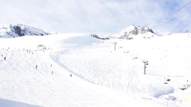 timelapse of ski resort slope in Switzerland video