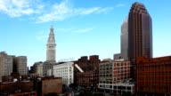 Timelapse of skyline of Cleveland, Ohio on a summer day video