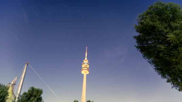 Timelapse of stars and interesting architecture / Olympiapark München video
