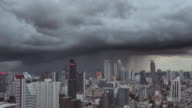 Timelapse of Storm is coming in the city,Bangkok Thailand video