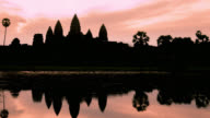 Timelapse of Sunrise on Angkor Wat Temple in Cambodia video