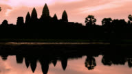 Timelapse of Sunrise on Angkor Wat Temple video