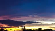 Timelapse of sunset 4k video