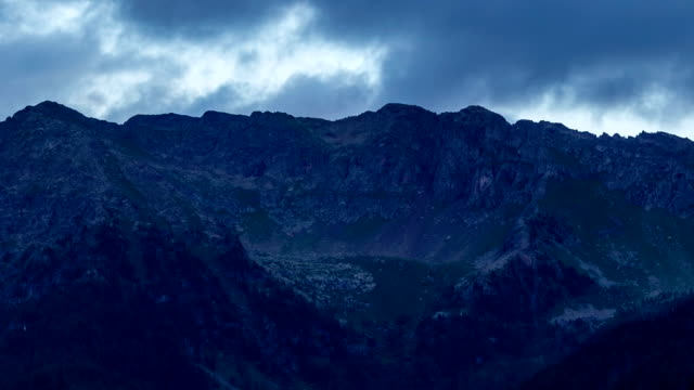 Timelapse of sunset in Italian Dolomiti video