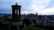 timelapse of sunset over Edinburgh, Scotland video