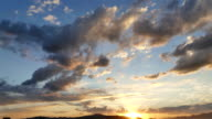 Time-lapse of Sunset sky and cloudy Beautiful nature video