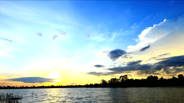 Timelapse of Sunset video