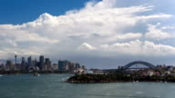 Timelapse of Sydney Harbour, CBD and Harbour Bridge (4K/UHD to HD) video
