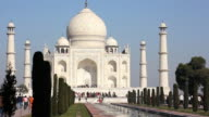 Timelapse of Taj Mahal in Agra, India video