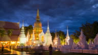 Time-lapse of Thailand temple people walking around gold pagoda , 4k(UHD) video